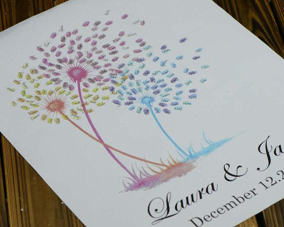 2018 Fireworks Thumb Print Guest Book,Wedding Guest Book Alternative ...