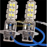 ingrosso h3 ha condotto la lampadina super luminosa-Nuovo 15X Car H3 3528 SMD 26 LED Super Bright White Light Lampadina Spedizione gratuita