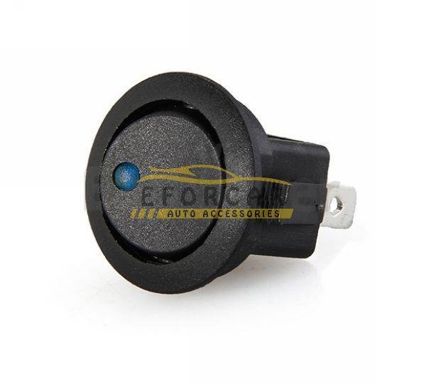 30X Mini Runde Blaue LED Wippschalter 3 Pin On-Off 12 V DC Kostenloser Versand
