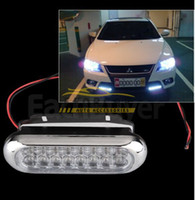 Wholesale Truck Aux Light - Car Truck Universal Day Fog Aux Driving DRL 16 LED Light Lamp White Free Shipping