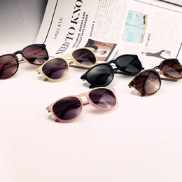 Wholesale Drop Shipping Sunglasses - Wholesale-OP-Metal Frame Leg Spectacles Fashion Retro Round New Women's Sunglasses Eyeglasses Drop Shipping Free Shipping