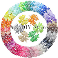 Wholesale Trail Order - 40pcs lot trail order 3.2''Quatrefoil grosgrain Ribbon Boutique baby girls pin wheel hair bows WITH clip accessory free shipping HJ032+4.5CM
