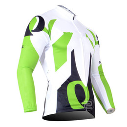 Argentina Ip Team Otoño o invierno fleece 2016 Ciclismo Blanco Jerseys de bicicleta de manga larga Mountaion MTB ciclismo Jersey ropa Suministro
