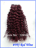 Wholesale Cheap Malaysian Hair Sale - Sale Cheap human hair 100g bundles human hair weave deep wave #99J Red Wine remy Malaysian curly hair weave online 16 18 20 22 24 26 28 inch