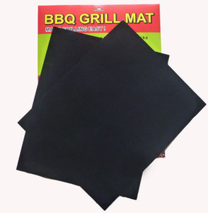 BBQ Grill Mat Set of 2 Non Stick Reusable Washable Plate PTFE Coated Telflon Mats