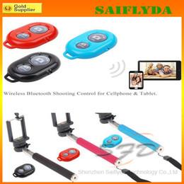 Wholesale Timer Camera Remote Control Wireless - Selfie Monopod+Bluetooth Camera Shutter Self-timer Remote Control Handheld