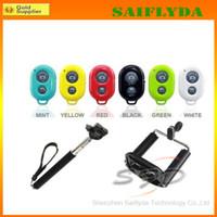 selbst-timer ausziehbares handheld-bluetooth großhandel-Top erweiterbare Handheld-Selbstauslöser Einbeinstativ Selfie Foto Bluetooth-Auslöser Kamera Fernbedienung für iPhone Samsung