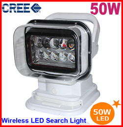 """Wholesale Hide Led - 7"""" 50W CREE LED Search Light Spot Beam Wireless Remote Control Magnet Base 360 Degree Rotating 12 24V 6500lm Marine Boat Camping Replace HID"""