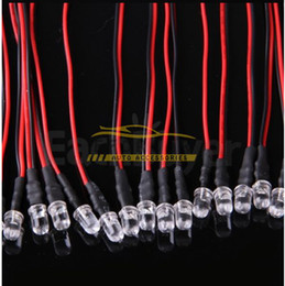 Wholesale 5mm Pre Wired Led - Hot sale 100X Red 5mm LED Lamp Light Bulb Set Pre Wired 12V 22cm Free Shipping