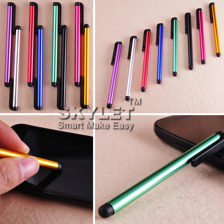 Lápiz capacitivo de la pantalla táctil de la pluma de la pluma para el envío libre del teléfono / iPhone Samsung / Tablet PC del ipad