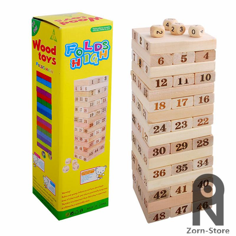 Falten High Jenga Riesige Hartholzblöcke Spiel Family Board Holzstapel Tumbling Turm Trinken Weihnachtsgeschenk Pädagogische Spielzeug