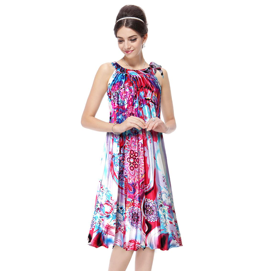Cocktail Summer Casual Dress Ever Pretty Nwt Round Neck Floral Purple Printed Ruffles He03328 White Dresses Party Long Dresses Women From Ever Pretty