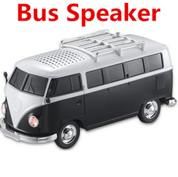 Wholesale mini external speaker - WS-266 Mini Portable Bus Toy Stereo Speaker Support TF Card USB MP3 Player With External Battery Subwoofer Speakers