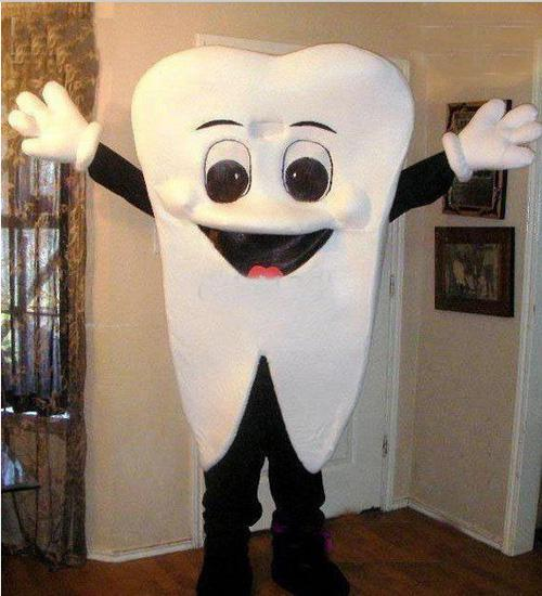 top popular New Custom made High quality Teeth tooth mascot costume size adult costume parties free shipping 2021