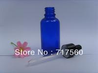 Wholesale Cobalt Blue Bottle Wholesale - 10pcs 1oz -30ml Cobalt Blue Glass Dropper Bottles Empty New Vials For Essential Oil Packing, Sampling, Storage containers