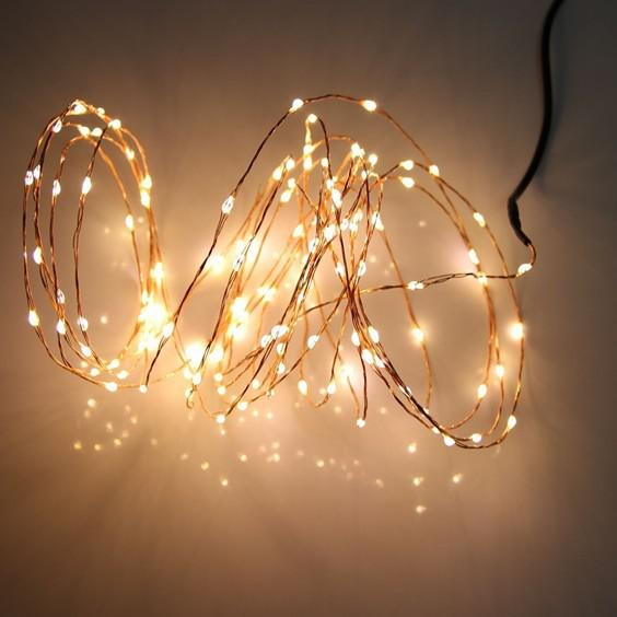 Copper Wire Holiday Light 10m 100 Led Energy String Fairy