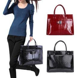 Wholesale Hobo Tote Pattern - S5Q Crocodile Pattern Handbag For Lady Women Hobo Tote Shoulder Bags AAACXM