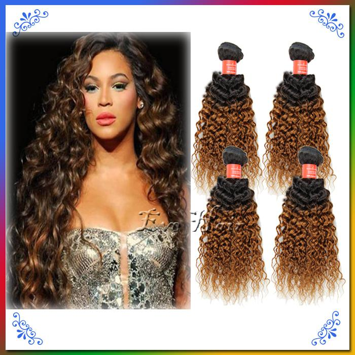Cheap honey blonde brazilian hair ombre curly wave hair weave hot cheap honey blonde brazilian hair ombre curly wave hair weave hot beauty hair ombre two tone 1b30 sunny queen hair 4 bundles colored human hair cheap human pmusecretfo Gallery