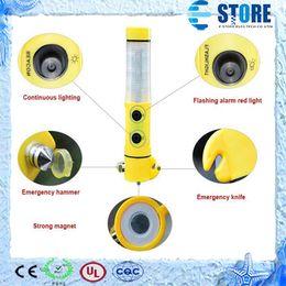 Wholesale Emergency Car Tool Flashlight - 5 in 1 Multifunction Car LED Flashlight Safety Hammer Escape Emergency Tool, M