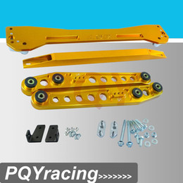 Wholesale Rear Subframe Asr - PQY RACING- ASR REAR SUBFRAME For 1996-2000 Civic + Rear Lower Control Arm Arms + 96-00 EK Tie Bar High Quality Anodize 6Color