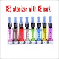 atomiseurs rohs achat en gros de-CE5 atomiseur 1.6ml Clearomizer avec le marquage CE et la certification ROHS E cigarettes diverses couleurs instock
