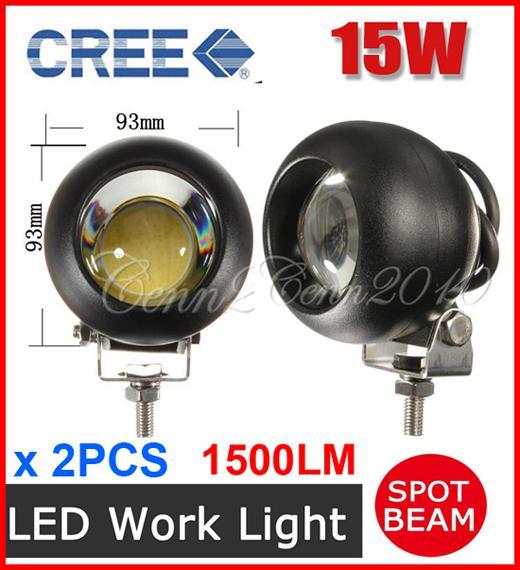 "2PCS 3.5"" 15W CREE LED Driving Work Light COB Chip Offroad SUV ATV 4WD 4x4 Spot Beam 9-33V 1500lm JEEP Truck Wagon Fog Headlamp High Power"