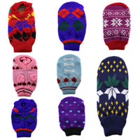 Wholesale assorted wholesale clothes - Small Medium Dogs Cats Rabbits Chihuahua Sleeveless Sweater Knitted Knitting Coat Clothes Knitwear Dog Clothes Assorted Colors