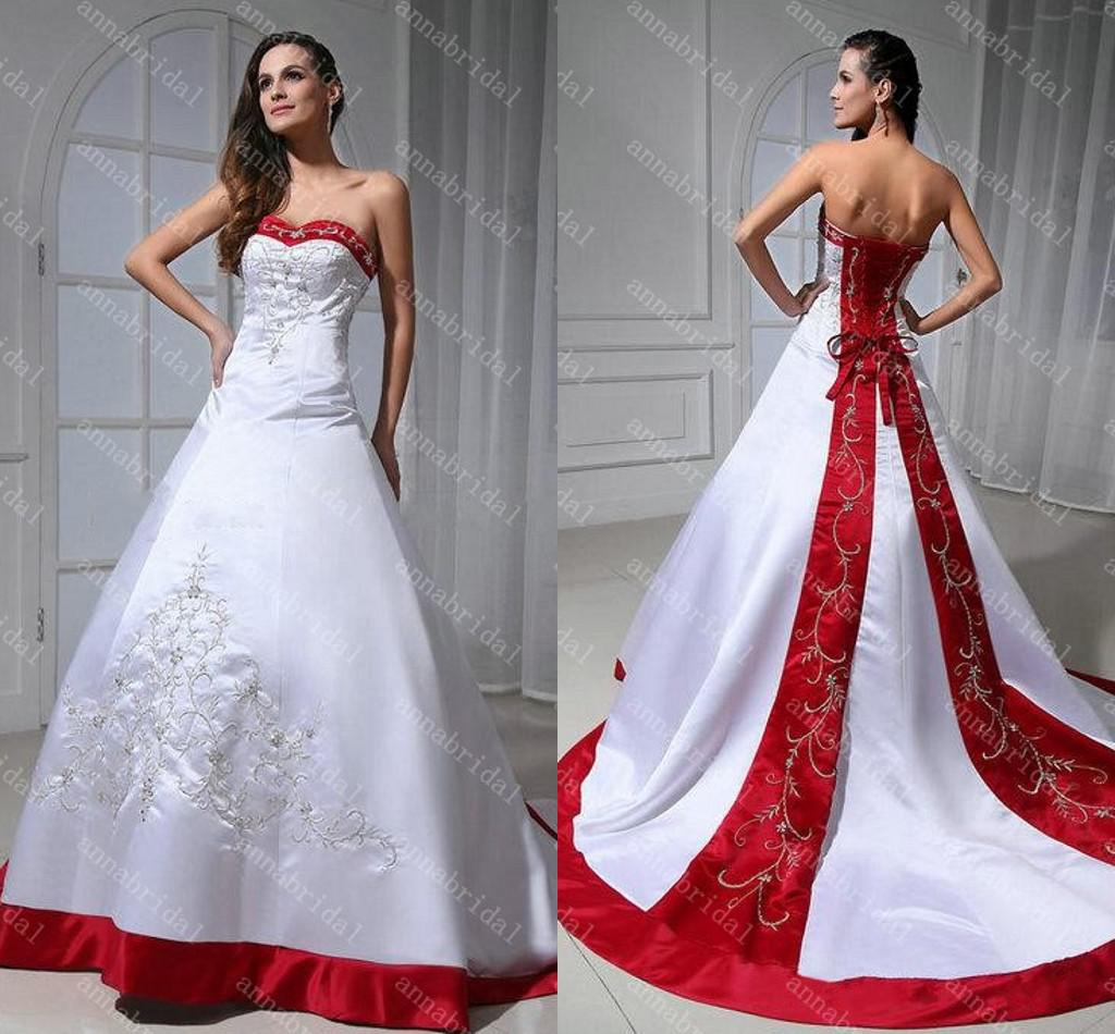 Discount Designer Wedding Gowns: Discount 2015 A Line Wedding Dresses Sweetheart White