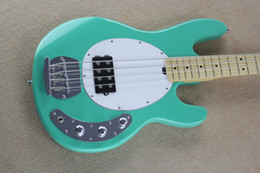 Wholesale Electric Guitars Sale - 12.Hot Sale High Quality Ernie Ball Musicman Music Man Sting Ray 4 Strings Green Electric Bass Guitar