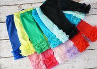 Wholesale Baby Legging Green - Hot Sale Baby Leg Pants Girls Ruffle Pants Knitted Girls Cotton Legging Pants Baby girls Legging