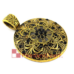 Wholesale Metal Charm Scarf - 12PCS LOT New Fashion DIY Pendant Scarf Jewelry Golden Metal Alloy Round Disc Rhinestone Scarf Pendant Accessories, Free Shipping, AC0299