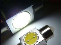 Wholesale 36mm High Power Festoon Bulbs - Hot sale! 10pcs White 31mm 12V 1W Festoon Interior LED Light High Power Super bright free shipping