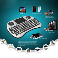 Wholesale Bluetooth Mouse Pad - Portable 2.4G Rii Mini i8 Wireless Keyboard Mouse Combo with Touchpad for PC Pad Google Andriod TV Box Xbox360 PS3 free shiping DHL