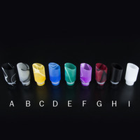 Wholesale Ego Hole - E cigarette Muffler Wide Bore Drip Tips With Acrylic Huge Hole Fit EGO Atomizers Mechanical Mods Tank Varible Colors Clearomizer Mouthpiece