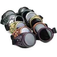 Wholesale wholesale victorian - Wholesale-OP-New Arrive Punk Vintage Victorian Steampunk Goggles Glasses For Welding Gothic Cosplay