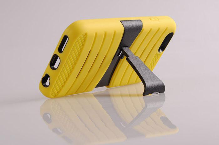 Für iPhone6 zuzüglich 4,7 5,5 Zoll 2 in Silizium Erdbebenschutz stark rückseitige Standabdeckungsfälle für iPhone 6