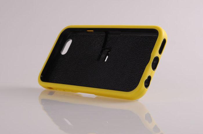 silikon Deprem Sert Geri standı kapak durumda Koruyucu Parantez durumlarda 2 iPhone 6 artı 4.7 5.5 inç için kapak