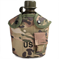 Wholesale Keep Warm Lunch Box - Wholesale-OP-High Quality Outdoor Water Bottle Kettle Canteen with Aluminum Lunch Box and Keep Warm Pouch - Camouflage