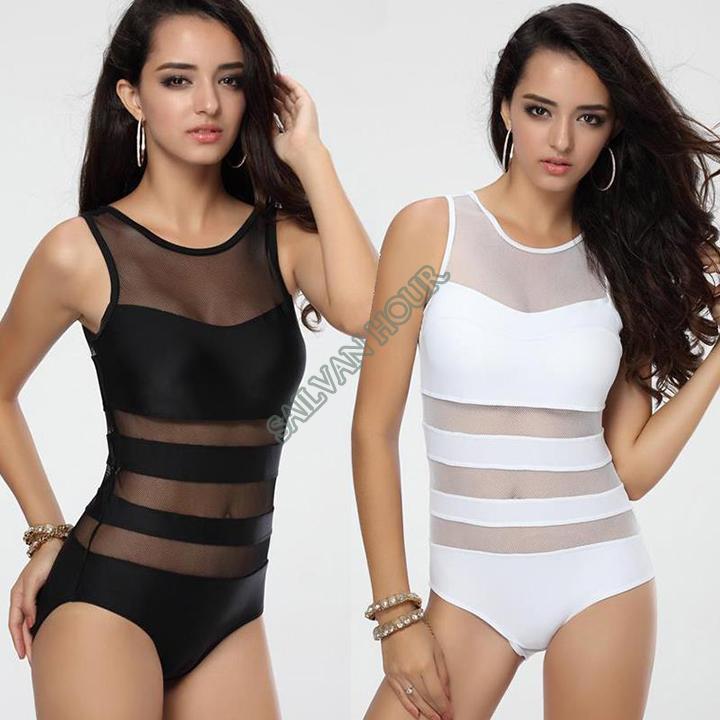 6552ca958e7 2019 2014 Plus Size Ladies Sexy One Piece Swimsuit Bandage Cut Out Open  Monokini Women Swimwear Bathing Suit Black White B9 SV002410 From Babyboys