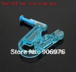 Wholesale Ear Piercer Gun - Wholesale-OP-New ear piercing gun one off no pain Piercing tools Safety Healthy Asepsis Disposable Gem Ear Stud Piercer Unit Tool 10pcs lot