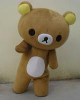 mascotes de urso adulto venda por atacado-Janpan relaxation bear trajes da mascote tamanho adulto para festa de Halloween de alta qualidade mascote trajes
