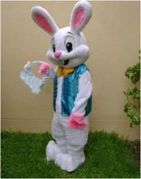 Trajes de personagens on-line-Traje de mascote de coelhinho da Páscoa Bugs Coelho Hare fantasia roupas de vestir Personagens animados para parte e celebrações do feriado
