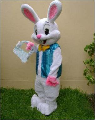 best selling Easter bunny mascot costume Bugs Rabbit Hare fancy dress clothing Animated characters for part and Holiday celebrations