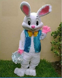 Wholesale Mascot Costume Bugs Bunny - 2017 sell like hot cakes PROFESSIONAL EASTER BUNNY MASCOT COSTUME Bugs Rabbit Hare Adult