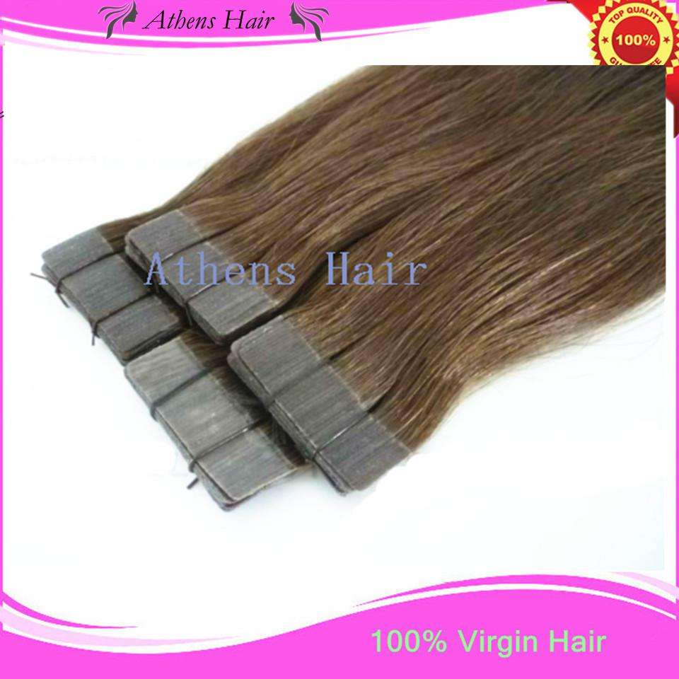 New Invisible Skin Tape Hair Extensions Brazilian Human Remy Hair