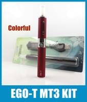 Wholesale Ego T Ecig Blister Kit - Ego T Battery MT3 Vaporizer Blister Kit Ecig Ecigator 650  900 1100mah Ego T Battery MT3 Atomzier Vaporizer pen Starter Kits Colorful KZ003