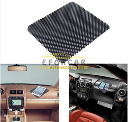 Wholesale Iphone Sticky Mats - 10Pcs Lot Black magic Car Dashboard Sticky Pad Mat Anti Non Slip Holder mats Grips for iPhone PDA MP3 4 Mobile Phone Wholesale