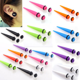 Wholesale Tunnel 5mm - Wholesale-OP-Details about 2X 6-5MM Illusion Ear Fake Cheater Stretcher Rivet Taper Plug Tunnel Gauges NEW
