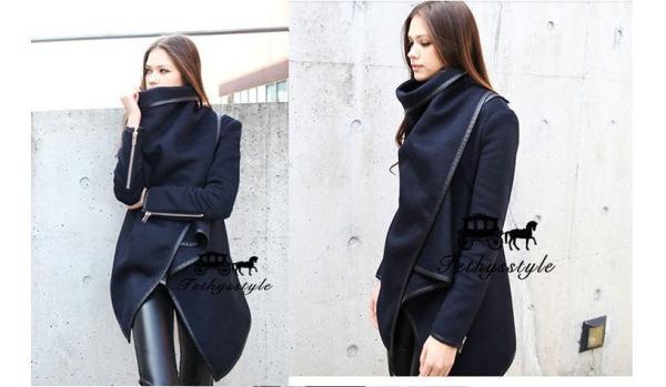 2016 mäntel Langen Reißverschluss Kammgarn Oansatz Volle Taschen Feste Neue Street Style Winter Frauen Mantel Trenchcoat Damen Jacken Outwear W5