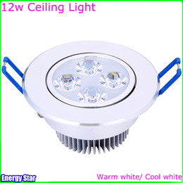 Wholesale Led Spot 4x3w - Dimmable 12W Ceiling Downlight Epistar LED Ceiling Lamp 4x3W Recessed Spot Light AC110V for Home illumination Home Lighting Decoration FREE